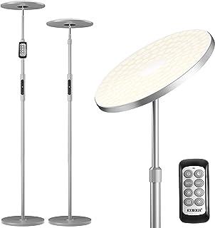 Lampadaire Sur Pied Salon, EEIEER 30W 3000lm Lampadaire LED sur Pied 154LEDs Lampe sur Pied Moderne à LED avec Poteau Rétr...