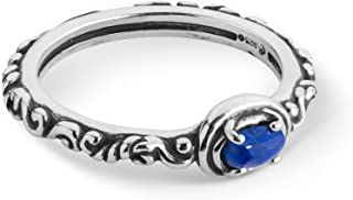 Carolyn Pollack Sterling Silver Multi Gemstone Choice of 8 Different Colors Single Oval Stone Band Ring Size 5 to 10