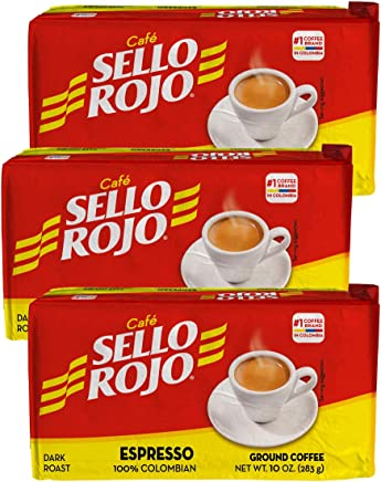 SELLO ROJO ESPRESSO 10 OZ (PACK OF 3)