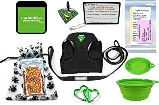 TSA Fast Pass In Cabin Pet Airline Travel Accessory Kit-GREEN