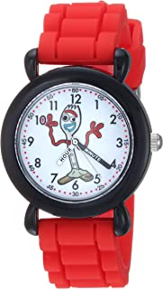 Disney Boys Toy Story 4 Analog-Quartz Watch with Silicone Strap, red, 16 (Model: WDS000723)