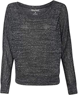 Nayked Apparel Womens Night /& Day Raglan Fleece Hoodie