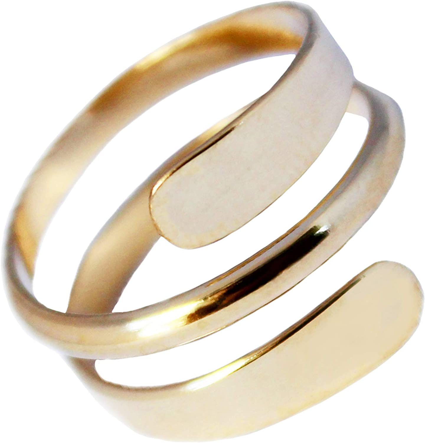 Toe Ring | 14K Gold Filled Pipeline Wrap Ring | Adjustable Ring for Toe or Midi | Unisex Men or Women | Made in the USA