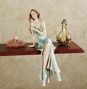 Touch of Class Classic Elegance Shelf Sitter - Made of Resin - Women Figurine Sitters - Collectible Figurines for Home Decor Shelves in Bathroom, Bedroom, Living Room - 14 Inches High