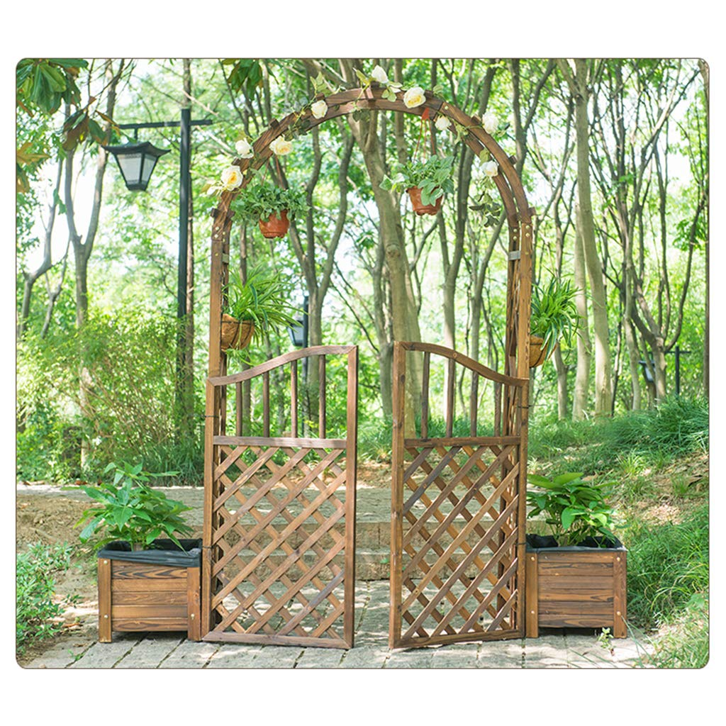 XLOO Garden Arch with Gate, Decoraciones para Bodas al Aire Libre ...