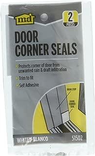 M-D Door Corner Seals, White, 2-Pack