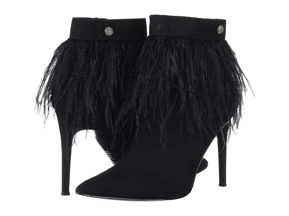 Nina Danella (True Black Glam Suede/Feathers) Women