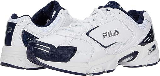 White/White/Fila Navy