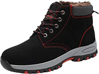 Winter Safety Boots Men Women, Steel Toe Cap Trainers Wearable Puncture-Proof Lightweight Casual Walking Work Utility Foot...