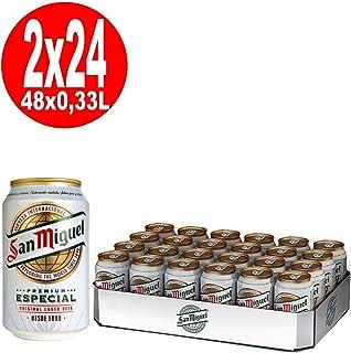 comprar comparacion 2 x 24 latas de 0,33 l. Lager especial de San Miguel, 5% vol. Depósito incluido, desechable.