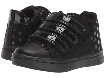 Geox Kids Jr Djrock 36 (Toddler) (Black Oxford) Girls Shoes