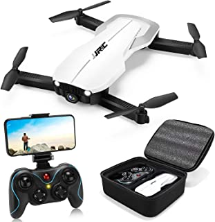 Drones with 1080P Camera for Adults,JJRC H71 Rc Foldable Drone with Optical Flow Positioning, WiFi FPV Live Video Quadcopter for Beginners,22mins Flight Time Indoor Drone For Kids-Altitude Hold(White)