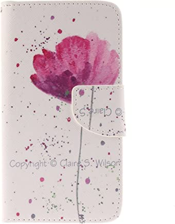 Anlike f�r LG G3 (5,5 Zoll) H�lle / Handyh�lle / Schutzh�lle / Ledertasche / Tasche / Case / Cover / Flip Brieftasche / Bookstyle mit Standfunktion Kredit Karteneinschub und Magnetverschlu� - Purple O : B�robedarf & Schreibwaren