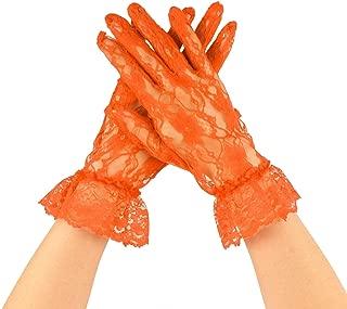 orange lace gloves