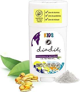 Diadie Desodorante natural kids. Infantil, para niños. Unisex. Libre de Alumino. Con AE tea tree oil y vitamina E