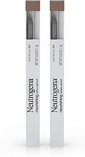Neutrogena Nourishing Eyebrow Pencil with Spoolie Brush, 2-in-1 Eyebrow Filler In Shade Soft Brown 20.04 oz
