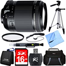 Tamron 18-200mm Di II VC All-in-One Zoom Lens for Nikon Mount Bundle with 16GB SDHC High Speed Memory Card, Camera Bag for DSLR, 62mm Multicoated UV Protective Filter and 60 Inch Camera/Video Tripod