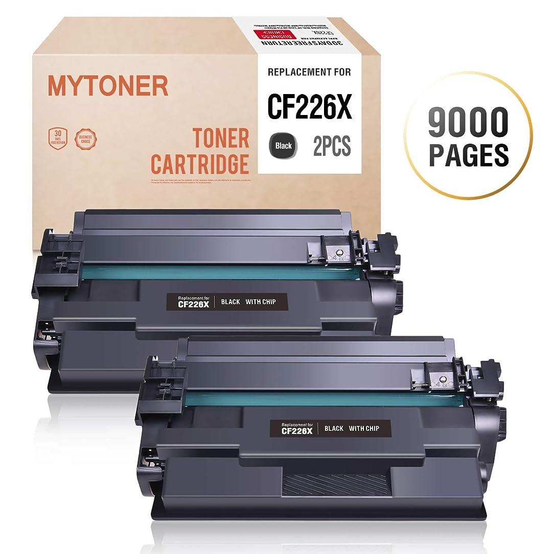 MYTONER Compatible Toner Cartridge Replacement for HP 26X CF226X for HP Laserjet Pro M402n M402dn M402dw M402dne; HP Laserjet Pro MFP M426fdw M426dw M426fdn M402 M426 Series Printer(Black,2-Pack)