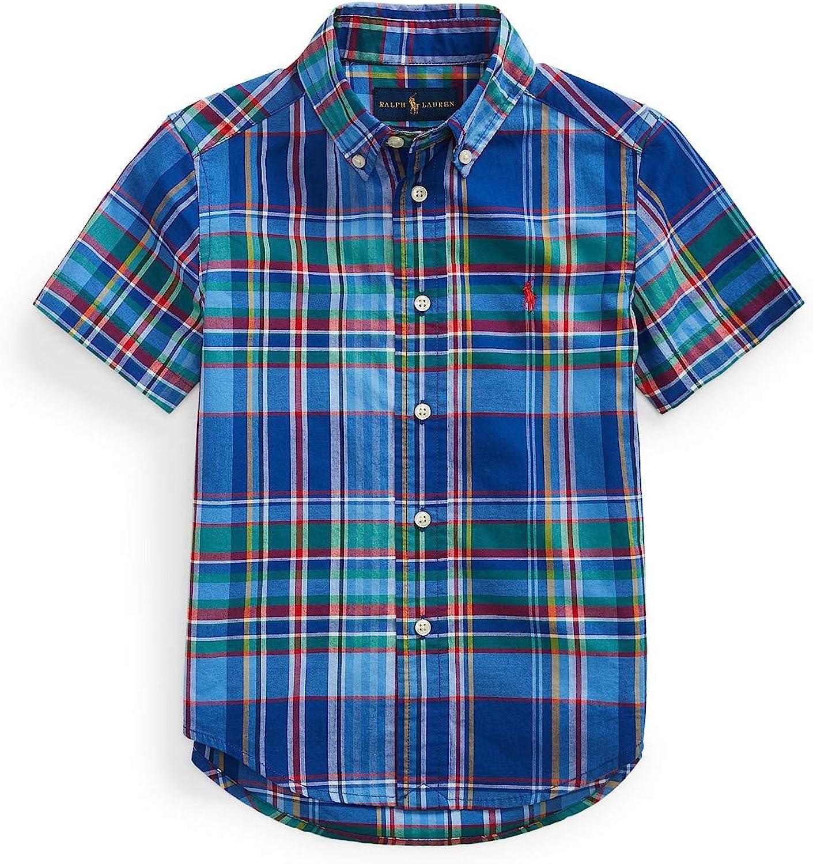 Ralph Lauren Polo Boys Plaid Poplin Shirt