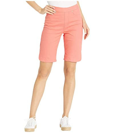 Tribal Pull-On Bermuda Shorts w/ Curved Side Slit (Deep Coral) Women