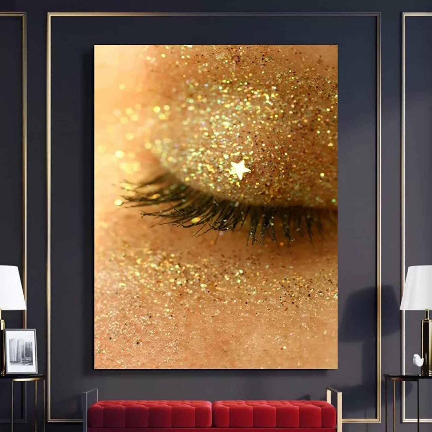 Wall Art Decoration Painting High quality new Hd Eyelashes Gold H Pictures Prints Sale SALE% OFF