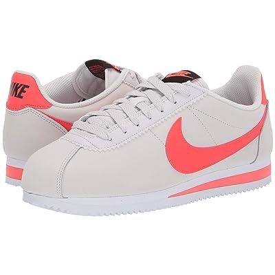 Nike Classic Cortez Leather (Platinum Tint/Bright Crimson/Black/White) Women