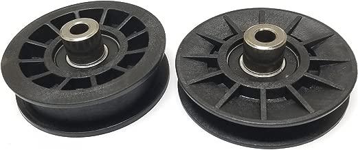 Poulan Husqvarna Jonsered Craftsman Set of 2 Drive Pulleys, V-Idler for 532194326 194326; Flat Idler for 532194327 194327