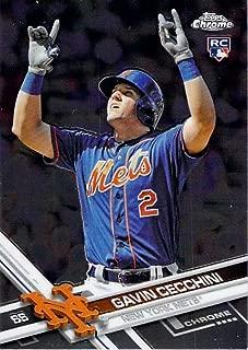 2017 Topps Chrome #96 Gavin Cecchini New York Mets Rookie Baseball Card