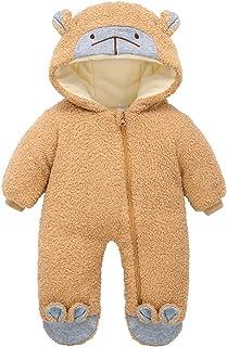 طفل الفتيان الفتيات الشتاء السروال القصير الرضع سميكة الدافئة الزحف الملابس داخلية حلزات الملابس (Color : Gold, Size : 18M)