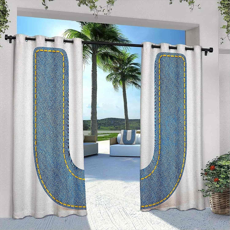Outdoor Pavilion Letter U Fresno Mall Alphabet Curtain Denim Design Discount is also underway