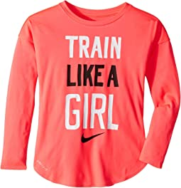 Train Like a Girl Modern Long Sleeve Tee (Little Kids)