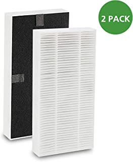 iSingo 2 Pack Compatible Febreze FRF102B HEPA Replacement Filter for Honeywell U Filter HRF201B, Honeywell Repl HepaClean Replacement Filter with Odor Reducing Pre Filter
