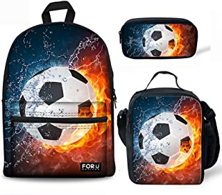 Dzulife Baseball School Bag Backpack Elementary Middle School Children Unisex Back Packs with Lunch Box Bag Set Lightweight Cool