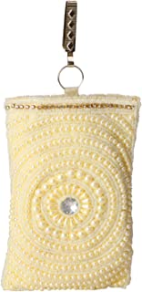 Pearl Clutch Raw Silk Saree Clutch Mobile Pouch Waist Clip Ladies Purse Women & Girls