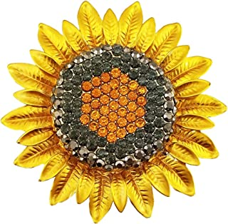 Sunflower Jewelry Sterling Silver Handmade Sunflower Brooch Pin  SFTX3-STP