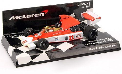 disfruta ahorrando 30-50% de descuento Minichamps Vehículo en Miniatura MC-Laren M23 GP GP GP Sudáfrica 1976 Escala 1 43  Compra calidad 100% autentica