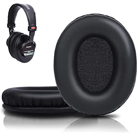 Professional MDR 7506 Ear Pads Cushions Replacement - Earpads Compatible with Sony MDR 7506/ MDR V6 / MDR V7 / MDR CD900ST Monitor Headphones