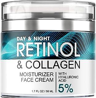 کرم رتینول برای صورت - مرطوب کننده صورت با اسید هیالورونیک و کلاژن - لوسیون مرطوب کننده صورت برای خانمها و آقایان - کرم مرطوب کننده ضد پیری روز و شب - برای انواع پوست