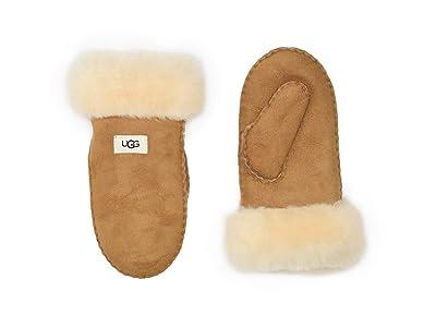 UGG Kids Sheepskin Mitten (Little Kid/Big Kid) (Chestnut) Extreme Cold Weather Gloves