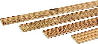 comprar comparacion Wodewa - Listón de madera para pared (1 m, 30 x 4 mm, para manualidades)