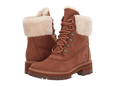 Timberland 6 Courmayeur Valley Shearling Waterproof Boot (Medium Brown Nubuck) Women