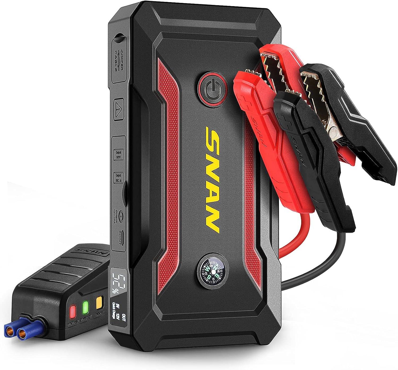 SNAN  18000mAh 800A Portable Car Jump Starter $36 Coupon