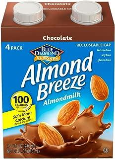 Almond Breeze Dairy Free Almondmilk, Chocolate, 8 Fl Oz, Pack Of 4
