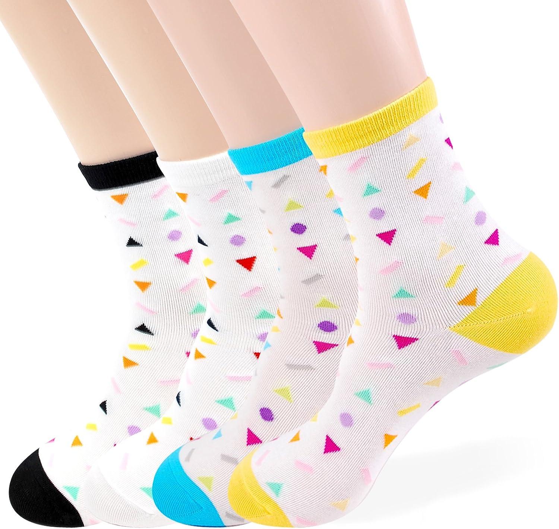 OkieOkie Vivid Figure Socks Womens 3 to 6 Pairs Casual Cotton Blended Fashion Crew