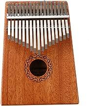 brdonsuper 17 Key Kalimba Thumb Pianos with Solid Mahogany Portable Musical Instrument Provide Full Accessories (Raw Wood)