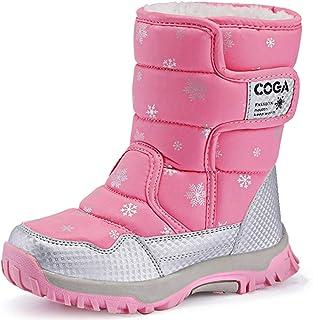 أحذية الثلج الشتوية JACKSHIBO للبنات والأولاد في الهواء الطلق مقاومة للماء (الأطفال الصغار/الأطفال الكبار)