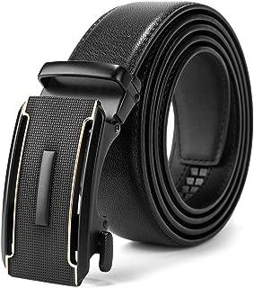 Cinturón de cuero para hombres,Sencillo y clásico, con hebilla automática