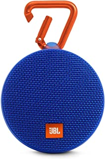 (Renewed) JBL Clip 2 Portable Wireless Bluetooth Speaker with Mic (Blue)