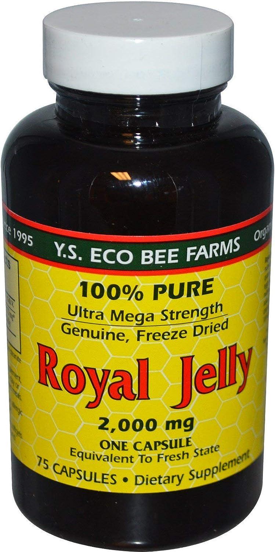 100% Pure Royal Jelly Ultra Dallas Mall Mega 75 Cap 2000 Milligrams Max 78% OFF Strength