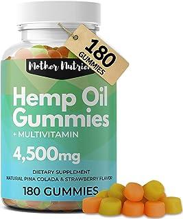 Hemp Gummies for Pain and Anxiety. 180 Hemp Gummy Bears with 51 Milligrams of Hemp Oil per Serving, 4,500 Milligrams Total...
